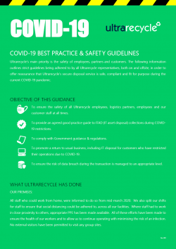 Best Practices & Safety Guidlines